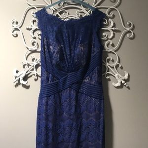Tadashi Shoji dress size 8. Cobalt blue.